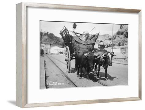 A Spanish Scene, 20th Century--Framed Art Print
