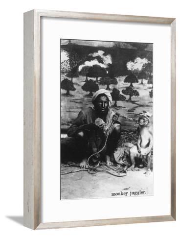 Monkey Juggler, India, 20th Century--Framed Art Print