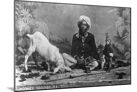 Monkey Trainer, India, 20th Century--Mounted Giclee Print