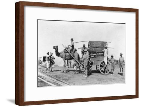 A Camel Cart, India, 1916-1917--Framed Art Print