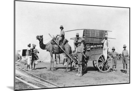A Camel Cart, India, 1916-1917--Mounted Giclee Print