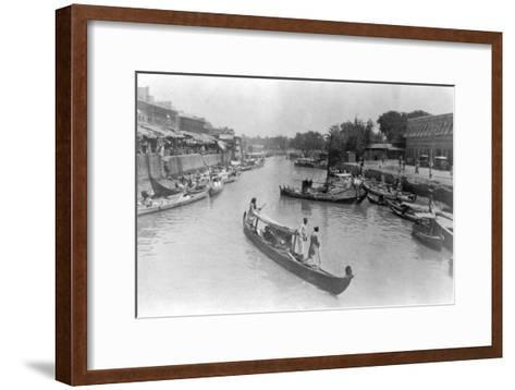 Ashar Creek, Basra, Iraq, 1917--Framed Art Print