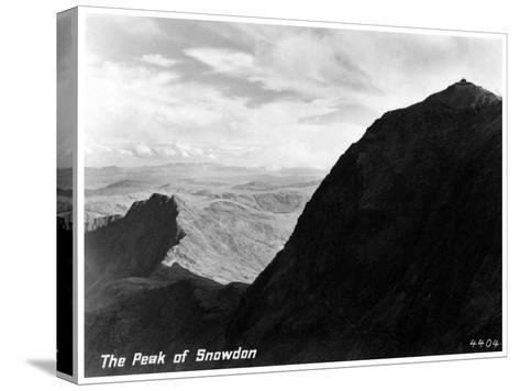 The Peak of Snowdon, Wales--Stretched Canvas Print