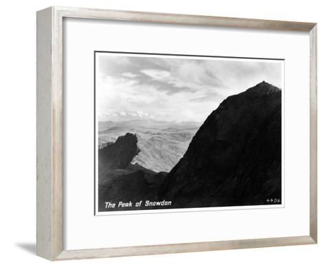 The Peak of Snowdon, Wales--Framed Art Print