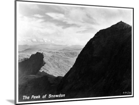 The Peak of Snowdon, Wales--Mounted Giclee Print