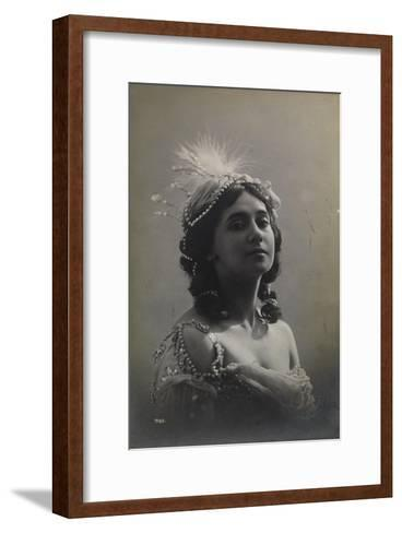 Russian Ballerina Tamara Karsavina, 1912--Framed Art Print