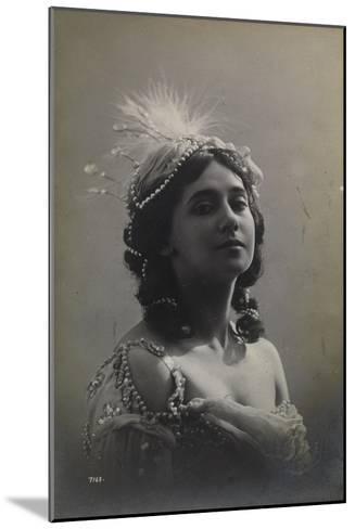 Russian Ballerina Tamara Karsavina, 1912--Mounted Giclee Print