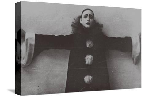 Alexander Vertinsky as Pierrot, 1918--Stretched Canvas Print