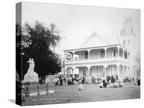 The King's Palace, Tonga, 1899- Burton Brothers-Stretched Canvas Print