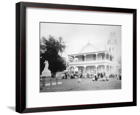 The King's Palace, Tonga, 1899- Burton Brothers-Framed Art Print