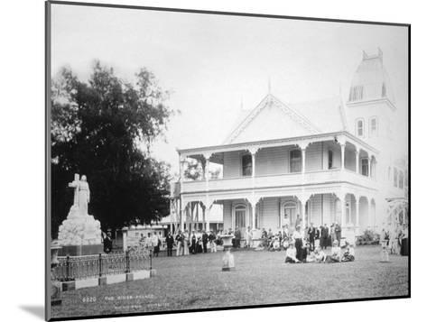The King's Palace, Tonga, 1899- Burton Brothers-Mounted Giclee Print