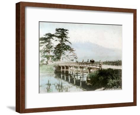 Fujiyama from Yoshiwara, Japan--Framed Art Print