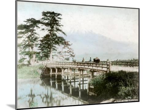 Fujiyama from Yoshiwara, Japan--Mounted Giclee Print