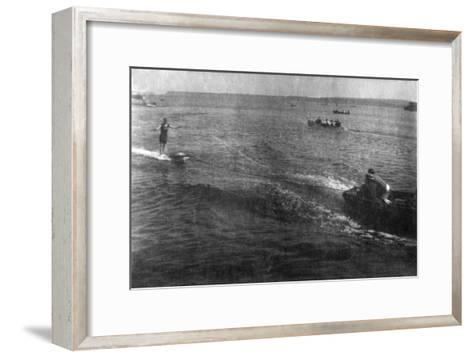Water Skiing, 20th Century--Framed Art Print