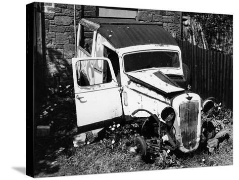 Wreck of a 1939 Austin 10--Stretched Canvas Print
