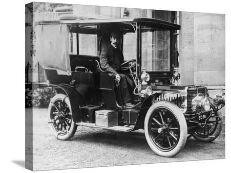 T Thornycroft in a 1903 Gladiator, C1903--Stretched Canvas Print
