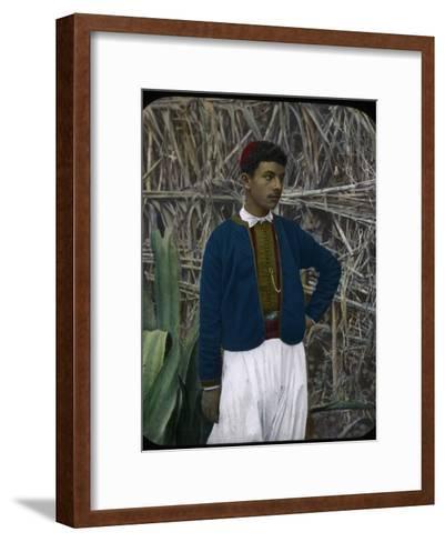A Jewish Boy, Tangier, Morocco--Framed Art Print
