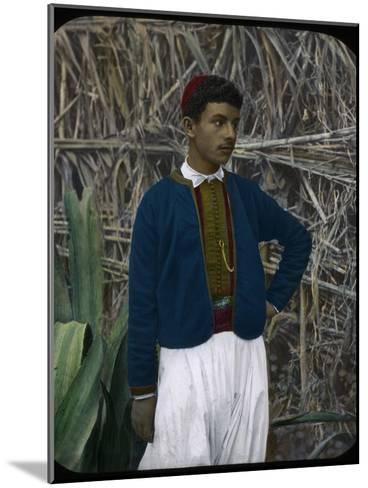 A Jewish Boy, Tangier, Morocco--Mounted Giclee Print