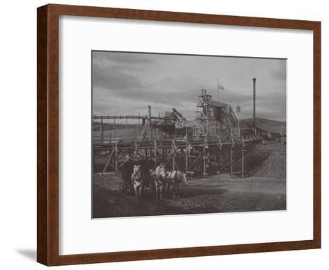 Gold Dredge in Sysert, 1900s-1910S--Framed Art Print