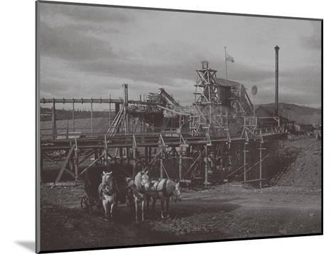 Gold Dredge in Sysert, 1900s-1910S--Mounted Giclee Print
