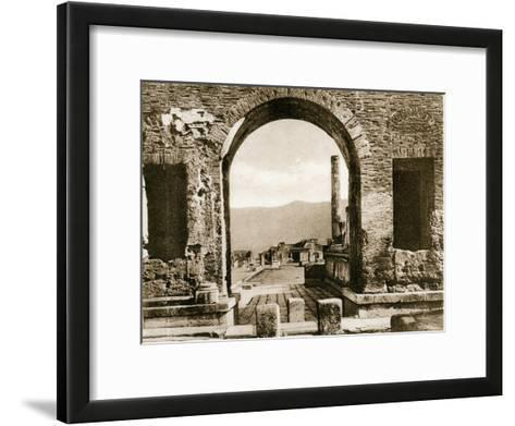 Arco Di Nerone, Pompeii, Italy, C1900s--Framed Art Print