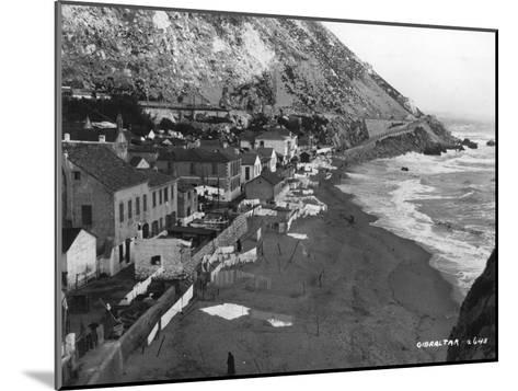 Beach, Gibraltar, C1920S-C1930S--Mounted Giclee Print