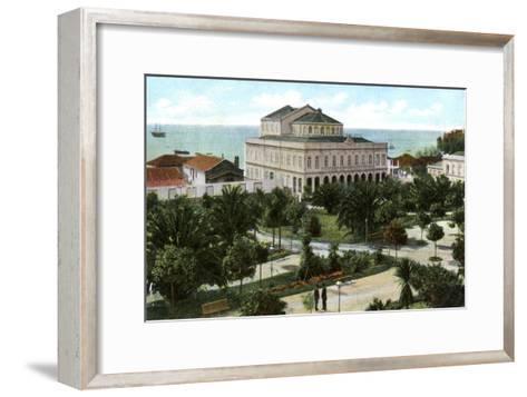 Public Garden and Theatre, Madeira, 1905--Framed Art Print