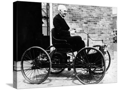 Henry Ford on a 1896 Ford, (C1940S)--Stretched Canvas Print