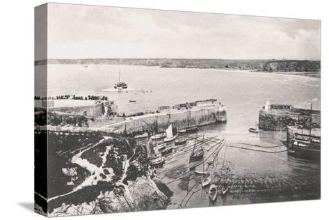Newquay Harbour, Newquay, Cornwall, 1908--Stretched Canvas Print
