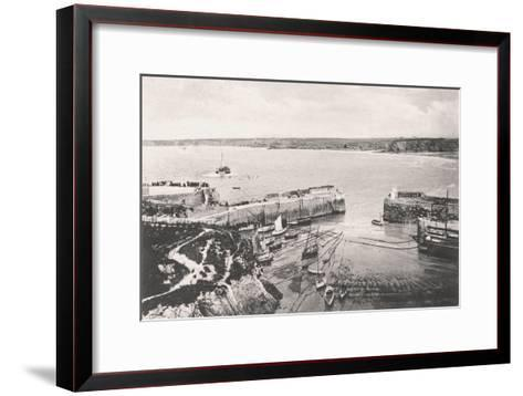 Newquay Harbour, Newquay, Cornwall, 1908--Framed Art Print