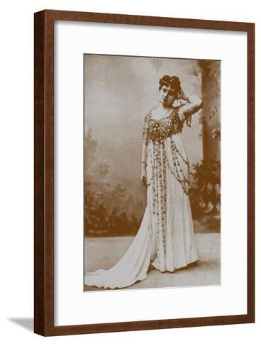 Yelizaveta Polozova as Mariya Oskolskaya-Karl August Fischer-Framed Art Print