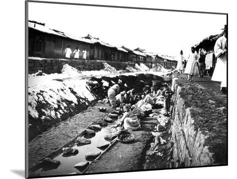 Washing Clothes Outdoors, Korea, 1900--Mounted Giclee Print