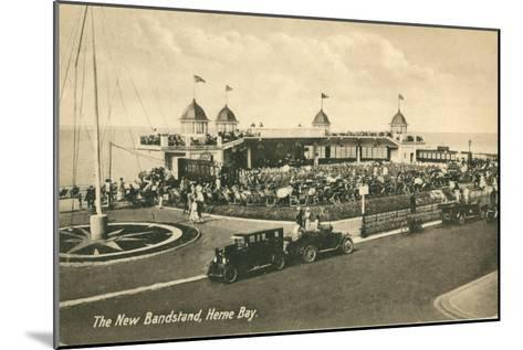The New Bandstand, Herne Bay, Kent--Mounted Giclee Print