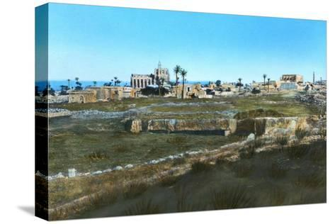 Sea Road to the East, Old Famagusta, Cyprus--Stretched Canvas Print