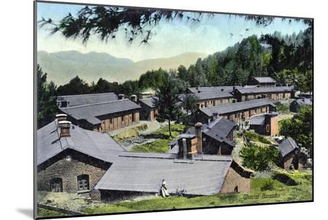 Gharial Barracks, India, Early 20th Century--Mounted Giclee Print