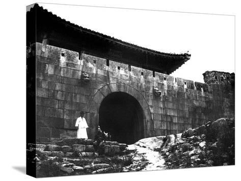 Entrance to a Temple, Korea, 1900--Stretched Canvas Print