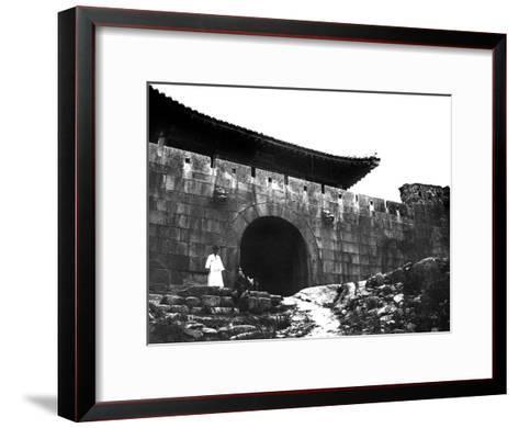 Entrance to a Temple, Korea, 1900--Framed Art Print
