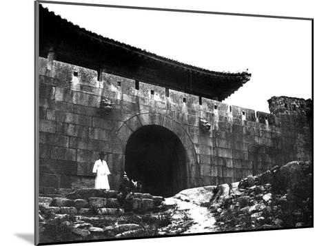 Entrance to a Temple, Korea, 1900--Mounted Giclee Print