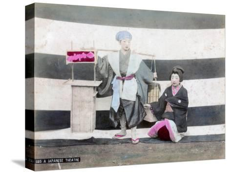 A Japanese Theatre--Stretched Canvas Print