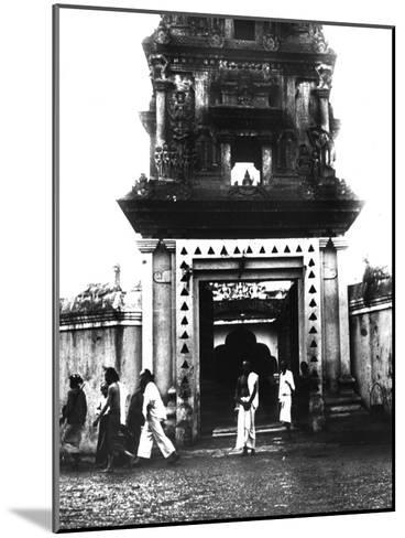 Temple, Singapore, 1900--Mounted Giclee Print