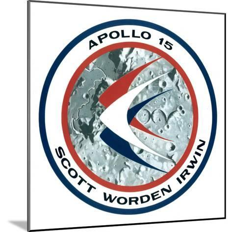 The Apollo 15 Lunar Mission Insignia, 1971--Mounted Giclee Print