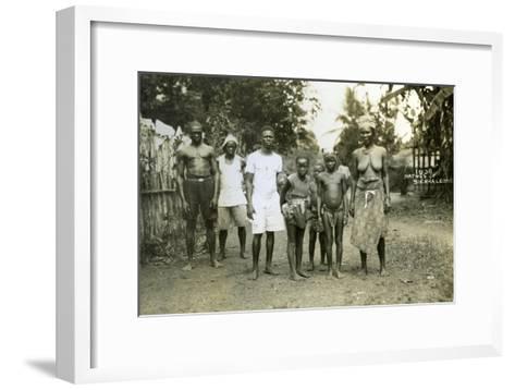 Local People, Sierra Leone, 20th Century--Framed Art Print
