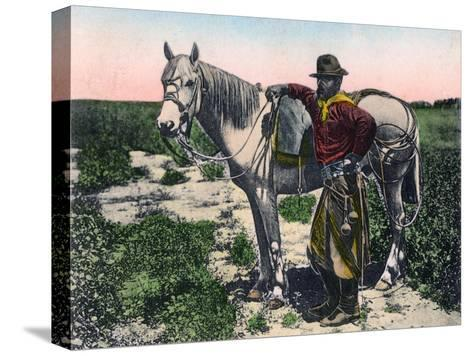 Gaucho, Argentina, Early 20th Century--Stretched Canvas Print