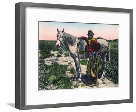 Gaucho, Argentina, Early 20th Century--Framed Art Print