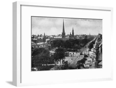 Lord Street, Southport, Lancashire, C1900s--Framed Art Print
