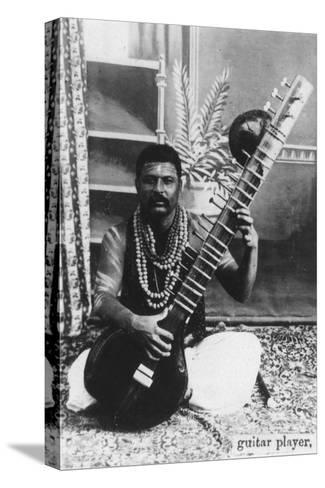Sitar Player, India, 20th Century--Stretched Canvas Print