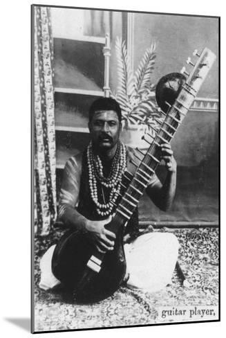 Sitar Player, India, 20th Century--Mounted Giclee Print