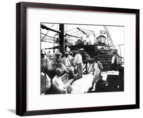 Ship, Shanghai, China, 1900--Framed Art Print