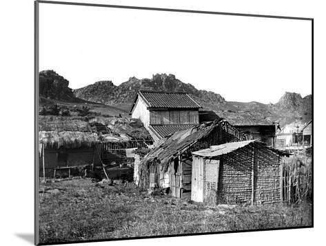 Village Huts in Korea, 1900--Mounted Giclee Print
