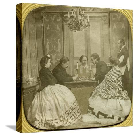 Card Game, 19th Century--Stretched Canvas Print